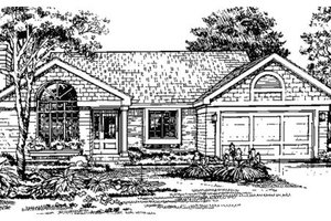 Ranch Exterior - Front Elevation Plan #320-367