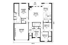 Traditional Floor Plan - Main Floor Plan Plan #84-578