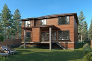 Contemporary Style House Plan - 4 Beds 3 Baths 3051 Sq/Ft Plan #1066-130 Exterior - Rear Elevation