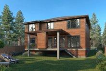 Architectural House Design - Contemporary Exterior - Rear Elevation Plan #1066-130