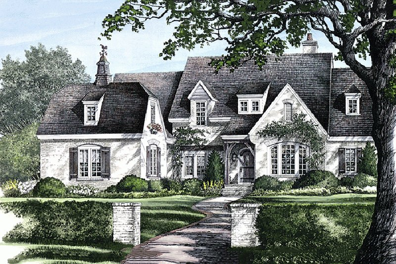 European Exterior - Front Elevation Plan #137-227 - Houseplans.com