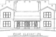 Home Plan Design - Traditional Exterior - Rear Elevation Plan #20-565
