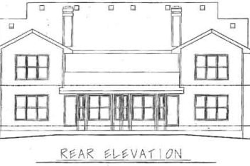 Traditional Exterior - Rear Elevation Plan #20-565 - Houseplans.com