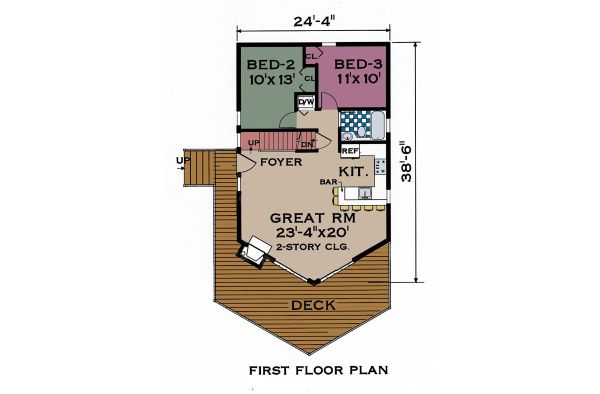 Contemporary Floor Plan - Main Floor Plan Plan #3-240