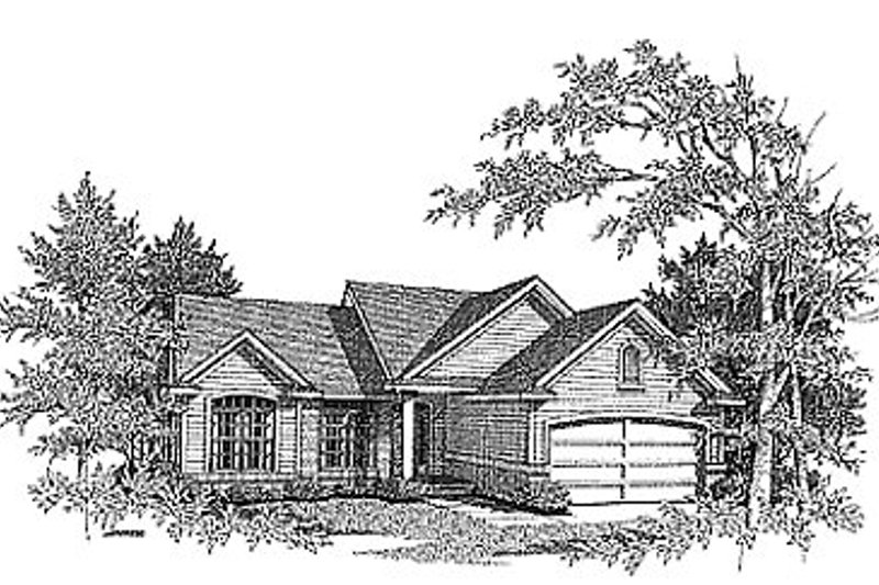 Traditional Exterior - Front Elevation Plan #70-130