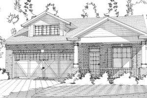 Bungalow Exterior - Front Elevation Plan #63-305