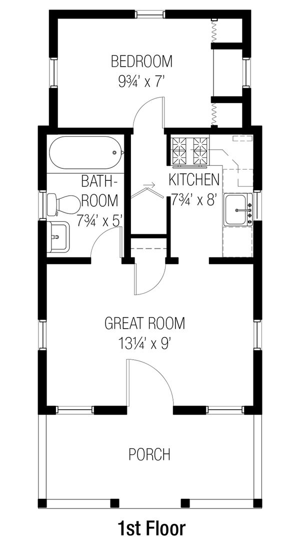 Bungalow Floor Plan - Main Floor Plan Plan #915-10