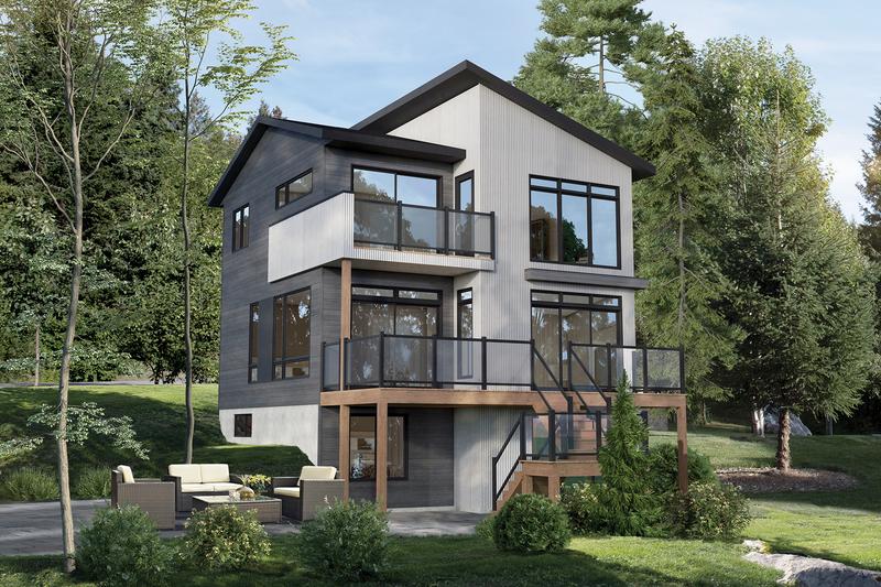 Architectural House Design - Cottage Exterior - Front Elevation Plan #25-4924