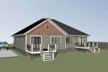 House Plan Design - Traditional Exterior - Rear Elevation Plan #79-236