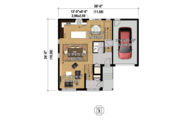Contemporary Style House Plan - 4 Beds 2 Baths 2481 Sq/Ft Plan #25-4401 Floor Plan - Main Floor Plan