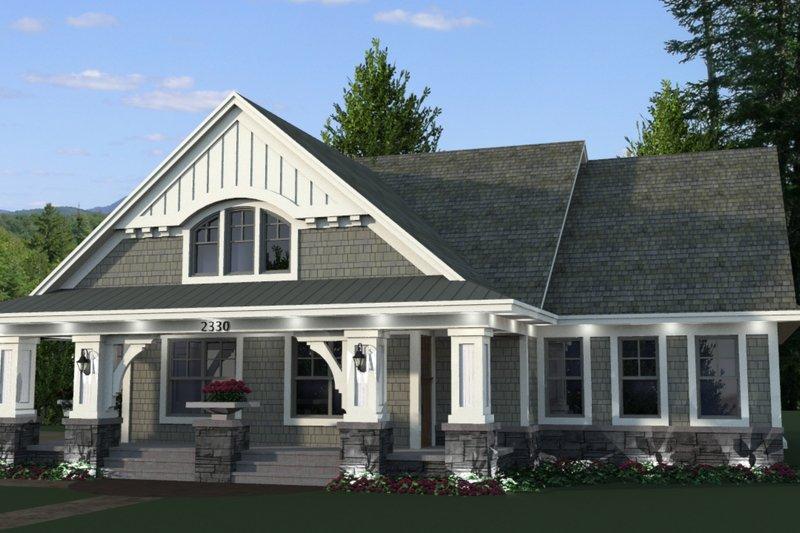Home Plan - Craftsman Exterior - Front Elevation Plan #51-514