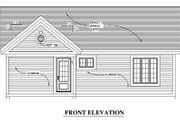 Country Style House Plan - 2 Beds 1 Baths 952 Sq/Ft Plan #138-311 Exterior - Other Elevation