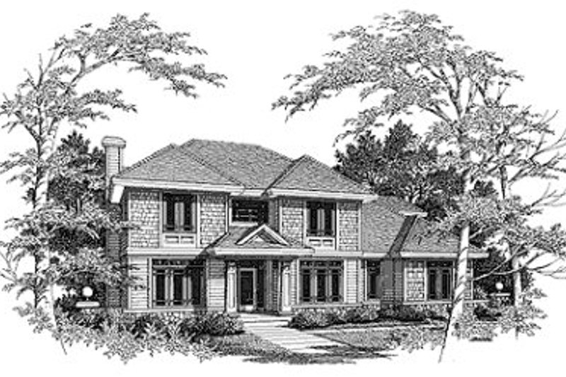 Traditional Exterior - Front Elevation Plan #70-456