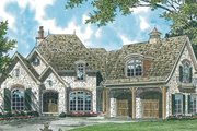 European Style House Plan - 4 Beds 4.5 Baths 5051 Sq/Ft Plan #453-90 Exterior - Front Elevation