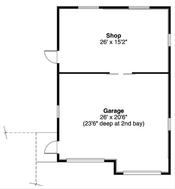 Traditional Floor Plan - Main Floor Plan Plan #124-794