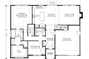 Dream House Plan - European Exterior - Rear Elevation Plan #53-622