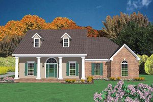 Country Exterior - Front Elevation Plan #36-172