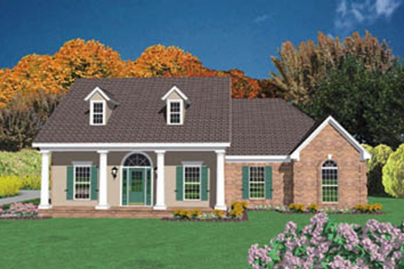House Design - Country Exterior - Front Elevation Plan #36-172