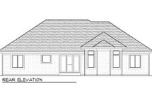 Dream House Plan - Bungalow Exterior - Rear Elevation Plan #70-978