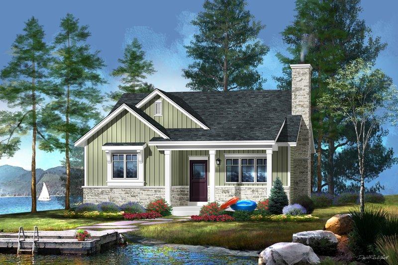 Home Plan - Cottage Exterior - Front Elevation Plan #22-571