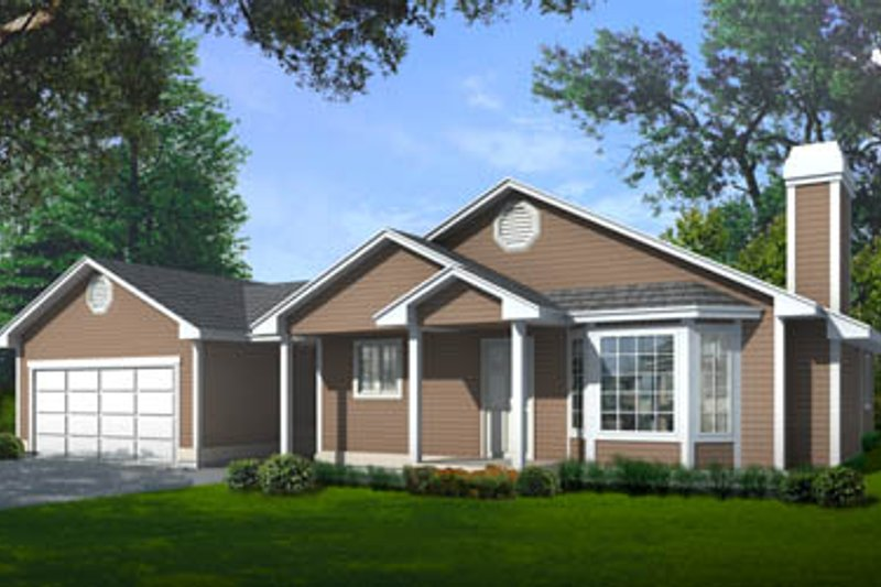 Traditional Style House Plan - 3 Beds 2 Baths 1304 Sq/Ft Plan #97-109