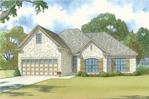 European Exterior - Front Elevation Plan #923-38