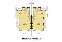 Contemporary Floor Plan - Upper Floor Plan Plan #1066-119