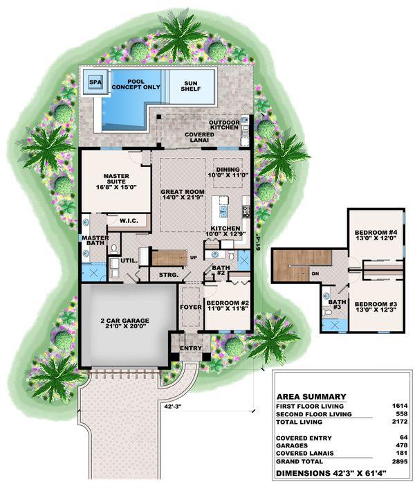 Mediterranean Floor Plan - Main Floor Plan #27-574