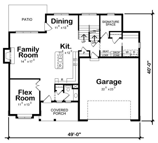 House Plan Design - Traditional Floor Plan - Main Floor Plan #20-2278
