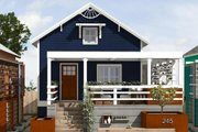 Cottage Style House Plan - 2 Beds 2 Baths 891 Sq/Ft Plan #497-23 Exterior - Front Elevation