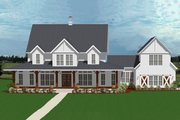 Farmhouse Style House Plan - 5 Beds 4.5 Baths 4357 Sq/Ft Plan #898-53 Exterior - Front Elevation