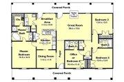 Southern Style House Plan - 4 Beds 3 Baths 1856 Sq/Ft Plan #44-162