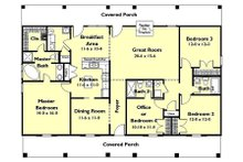 Southern Floor Plan - Main Floor Plan Plan #44-162