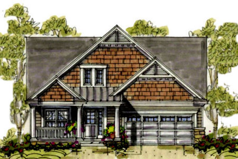 Farmhouse Exterior - Front Elevation Plan #20-1233