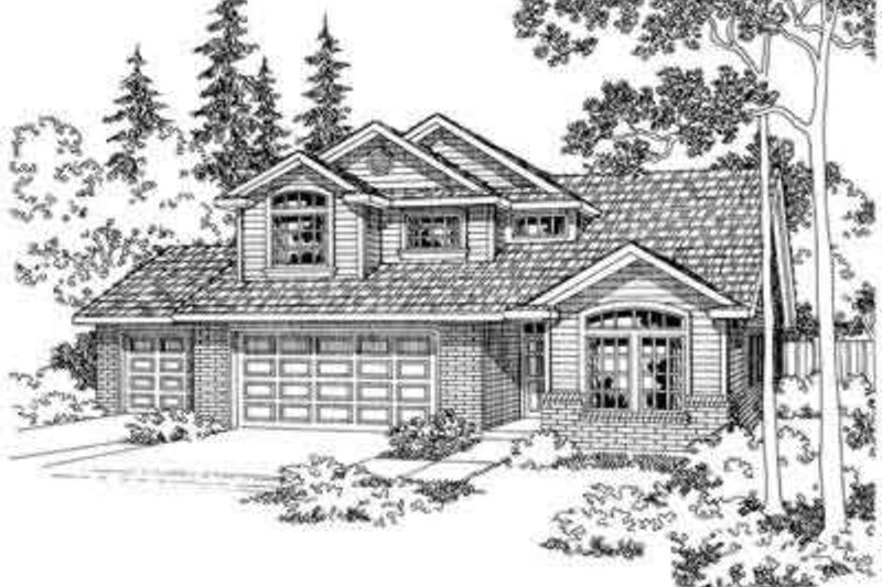 Traditional Exterior - Front Elevation Plan #124-338 - Houseplans.com