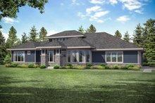 Architectural House Design - Prairie Exterior - Front Elevation Plan #124-1159