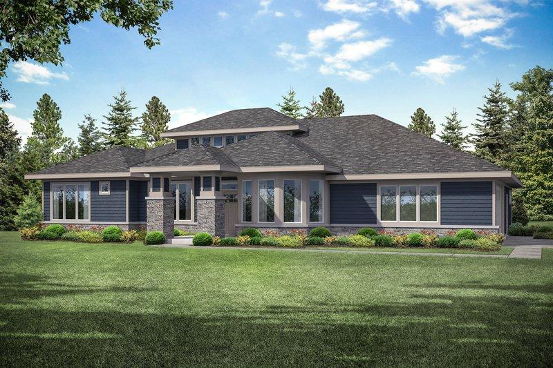 House Plan Design - Prairie Exterior - Front Elevation Plan #124-1159