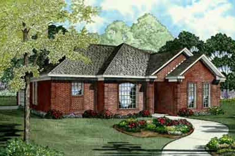 House Plan Design - Traditional Exterior - Front Elevation Plan #17-2125