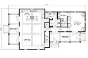 Beach Style House Plan - 3 Beds 4 Baths 2085 Sq/Ft Plan #443-5 Floor Plan - Main Floor