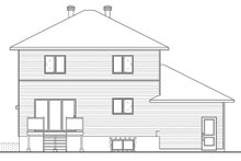 House Plan Design - Modern Exterior - Rear Elevation Plan #23-2642