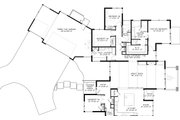 Contemporary Style House Plan - 4 Beds 2.5 Baths 2839 Sq/Ft Plan #895-41 Floor Plan - Main Floor Plan
