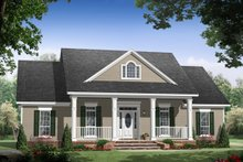 Architectural House Design - Country Exterior - Front Elevation Plan #21-448