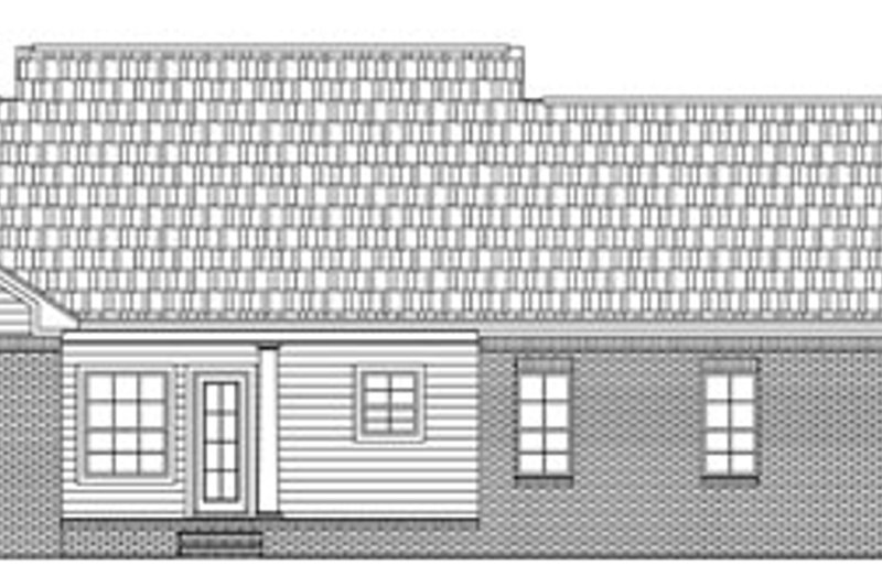 Southern Exterior - Rear Elevation Plan #21-194 - Houseplans.com