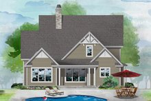 House Plan Design - Cottage Exterior - Rear Elevation Plan #929-1121