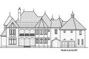 European Style House Plan - 6 Beds 6.5 Baths 6140 Sq/Ft Plan #413-865 Exterior - Rear Elevation
