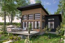 House Blueprint - Modern Exterior - Rear Elevation Plan #23-2747