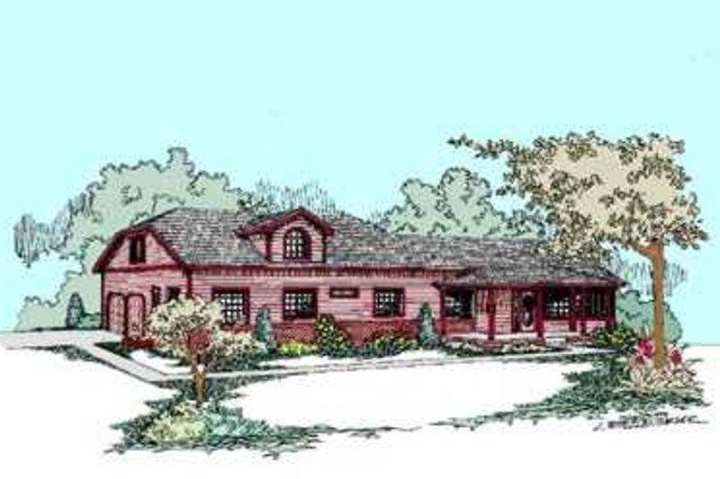 Traditional Exterior - Front Elevation Plan #60-479 - Houseplans.com
