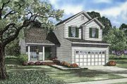 Traditional Style House Plan - 3 Beds 2 Baths 1287 Sq/Ft Plan #17-2095