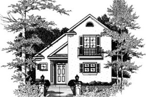 Cottage Exterior - Front Elevation Plan #37-133