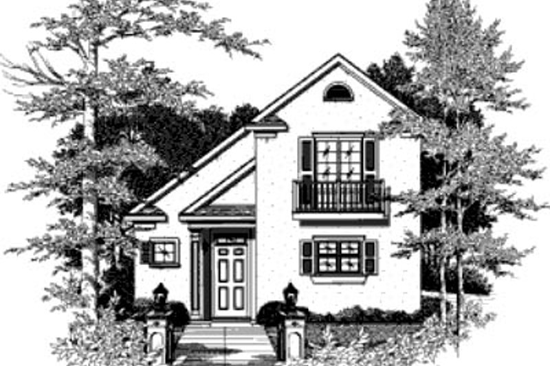 Cottage Style House Plan - 2 Beds 2 Baths 1205 Sq/Ft Plan #37-133 Exterior - Front Elevation